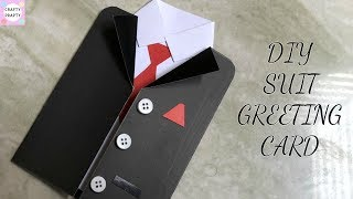 DIY Greetings Card / DIY Father's Day Card /DIY Suit-Tuxedo Greeting Card