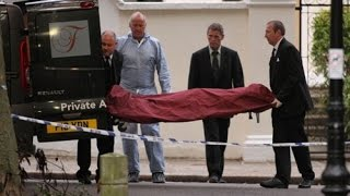 CORONER'S REMOVING THE DEAD BODY OF AMY WINEHOUSE