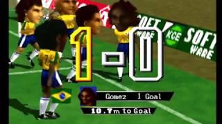 International Superstar Soccer 64 - Brazil vs Belgium Full Game (Big Head Mode)
