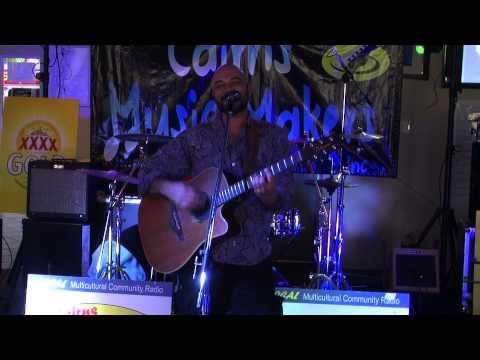 Ben Davies at the Cairns Music Makers gig, Holloways Beach.