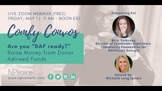 """Comfy Convos: Are you """"DAF ready?"""" Raise Money from Donor Advised Funds"""