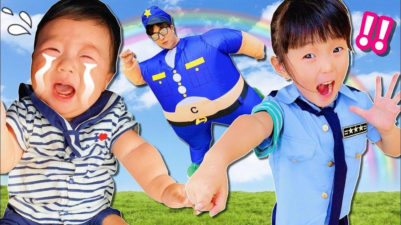【赤ちゃんを助けて😭】太っちょ警官👮 VS しの警官👮✨ パウ・パトロール Paw Patrol  💛 【寸劇】 💛 はれママ