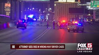 Las Vegas attorney taking stand against wrong-way drivers