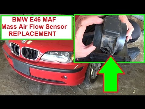 BMW E46 MAF Mass Air Flow Sensor Removal and Replacement in 2