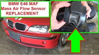 BMW E46 MAF Mass Air Flow Sensor Removal and Replacement in 2 minutes  320i 323i 325i 328i 330i