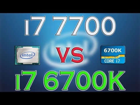 i7 7700 vs i7 6700K - BENCHMARKS / GAMING TESTS REVIEW AND COMPARISON / Windows 10