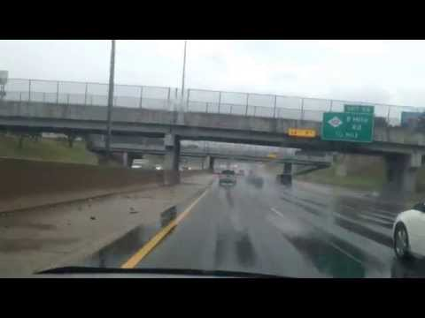Rainy Drive from Detroit, Michigan to Beverly Hills, Michigan