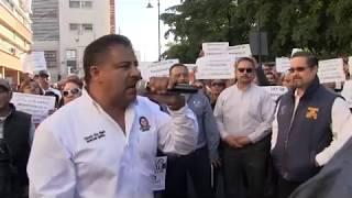 Realizan Marcha- Manifestación por el Rescate Financiero del ISSSTESON