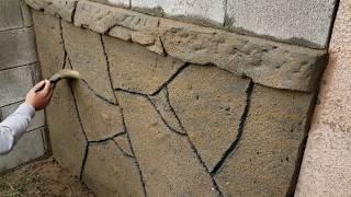 Como hacer piedras planas en un muro