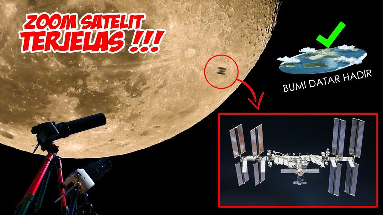 ZOOM SATELIT LEWAT BULAN | ISS Moon Lunar Transit (International Space Station)