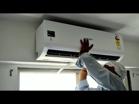 Videocon 1 5 Ton Split AC Live Installation And Service Demonstration in HINDI