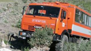 Mongolia Kamaz 43114  Expedition Truck 6X6, Reynolds Boughton RB44, Land Rover Defender 130