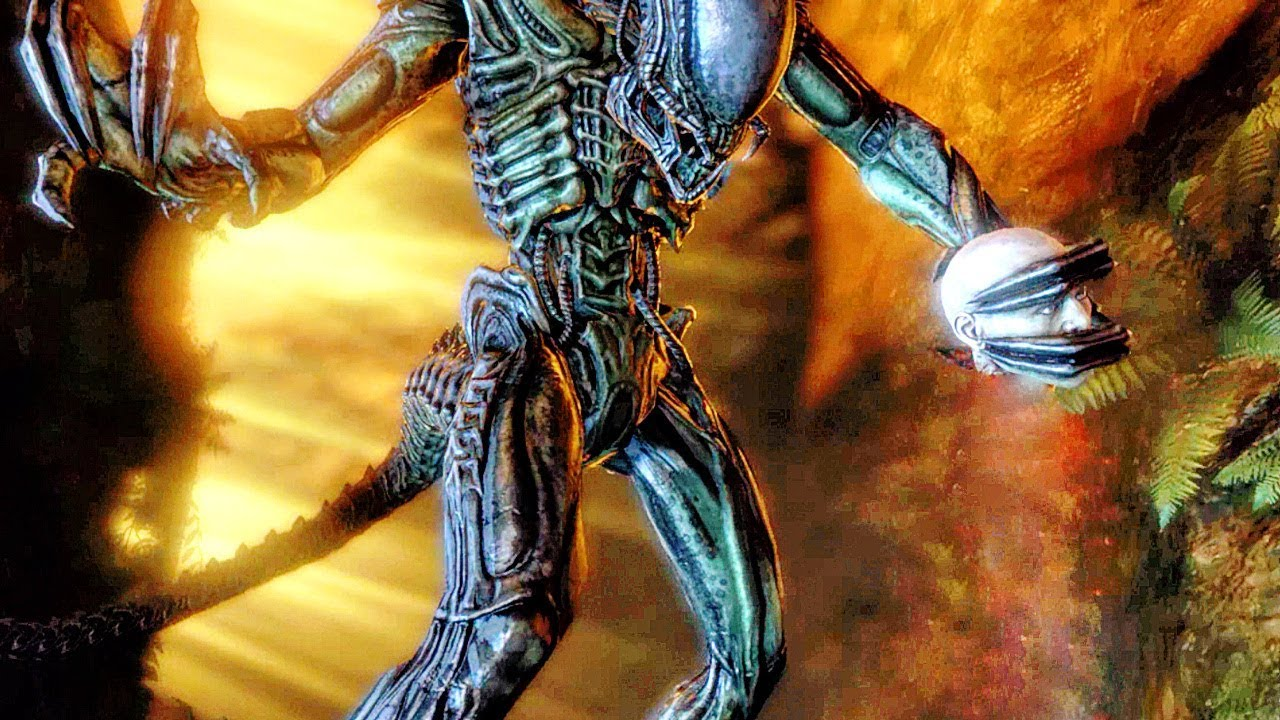 Predalien Vs Colonial Marine Fight Scene – Aliens Vs Predator Game