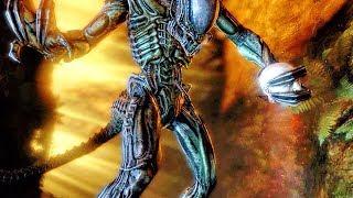 Predalien Vs Colonial Marine Fight Scene - Aliens Vs Predator Game