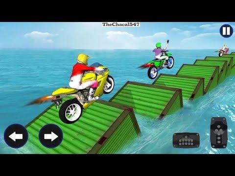 Jugando Juegos De Motos - Videos Para Niños - Moto Bike Racing Super Rider