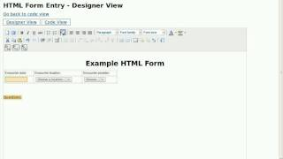 Html Form Entry Designer v0.7 Dev