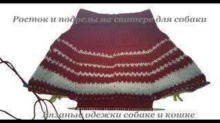 16. Росток и подрезы на свитере для собаки