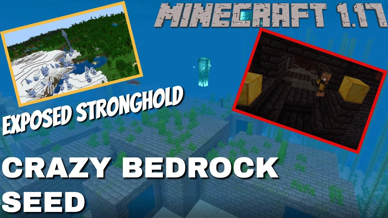 BRILLIANT Bedrock 1.17 Seed   Everything you need RIGHT THERE! Speed Runs   Farming   Building