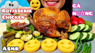 ASMR Whole Rotisserie Chicken & Potato Smiley Fries Eating Sounds