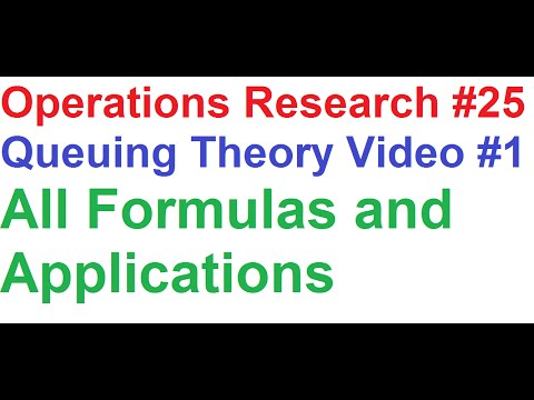 Operations Research Tutorial #25_Queuing Theory #1_All Formulas and Application