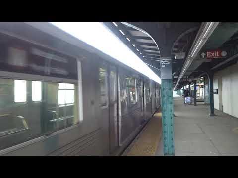 NYC Subway: Metropolitan Avenue-bound R42 (M) Leaving Myrtle-Wyckoff Avenue (Track 2)