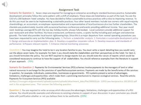 Assignment Task- Sustainability in Theory and Practice