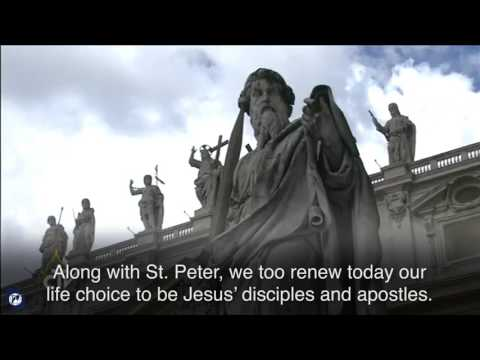 Pope Francis celebrates Solemnity of Saints Peter and Paul