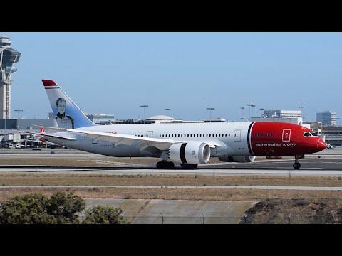 "Norwegian Long Haul ""Grete Waitz"" Boeing 787-8 [EI-LND] Landing at LAX."