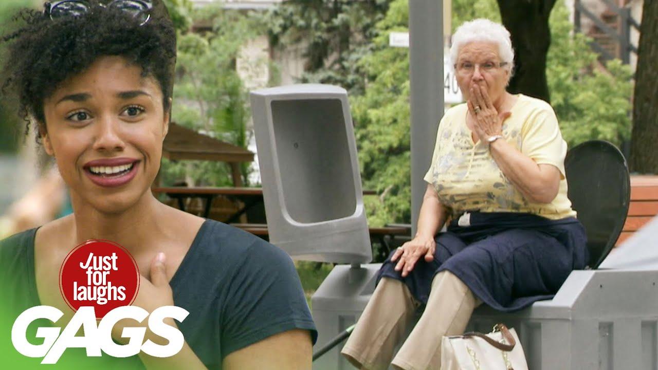 Old Lady's Violent Fart Destroys Porta-Potty