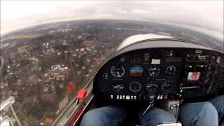 DA-20 C1 Start-up and traffic circuit (FULL FLIGHT with GoPro using head strap)