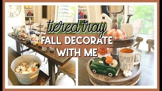 FALL DECORATE WITH ME 2019 | FALL TIERED TRAY DECOR IDEAS