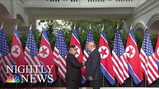 President Donald Trump And Kim Jong Un Shake Hands Ahead Of Historic Summit | NBC Nightly News