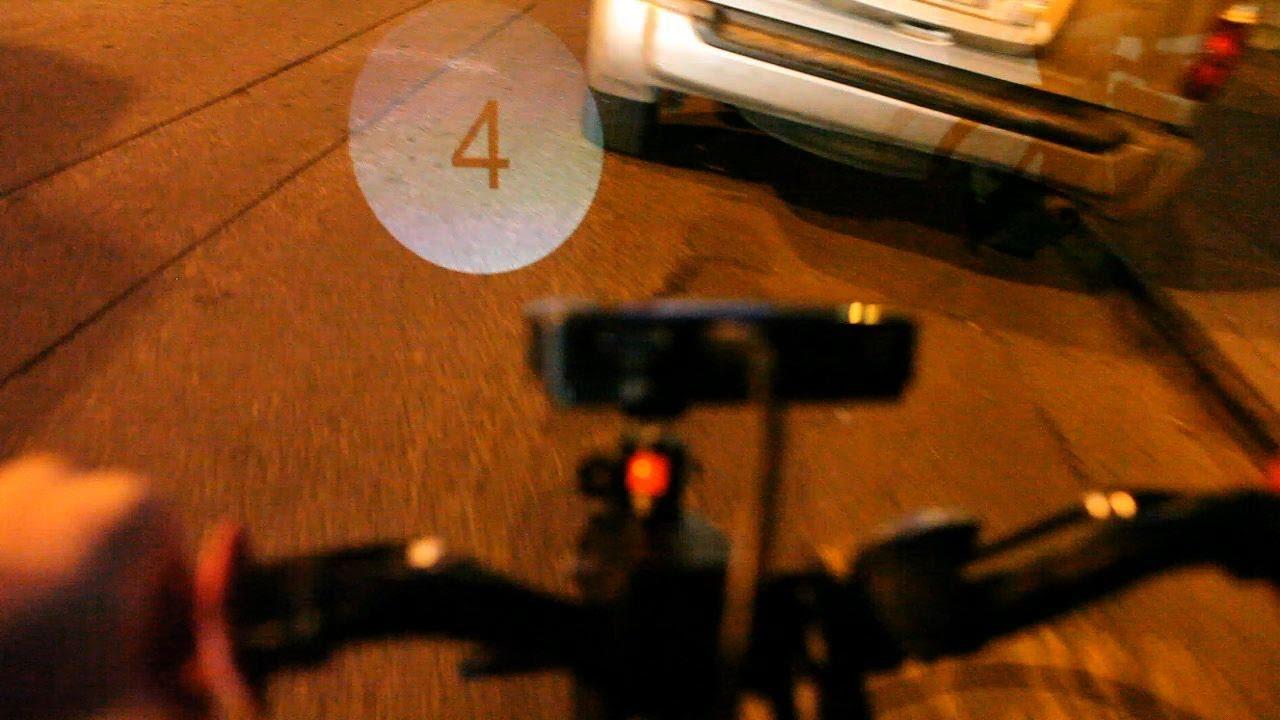 Raspberry Pi Dynamic Bike Headlight Prototype and Test