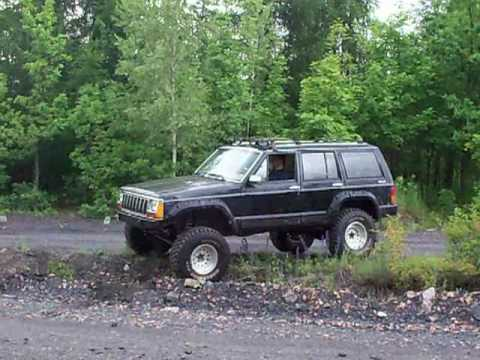 "Lifted Jeep Cherokee >> Jeep Cherokee XJ lift 6"" 33x12.5 Cooper Discoverer test 1 ..."
