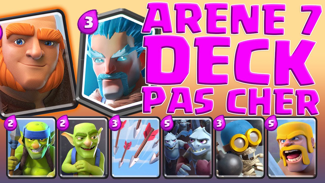 Super deck pour l 39 ar ne 7 pas cher en elixir sur clash for Deck arene 7 miroir