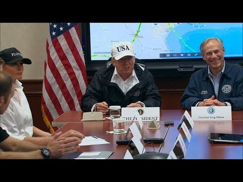 President Donald Trump delivers remarks on Hurricane Harvey relief effort in Austin, Texas