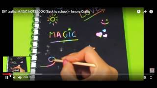 Do Kit Yourself - Magic (Draw-On) Notebook