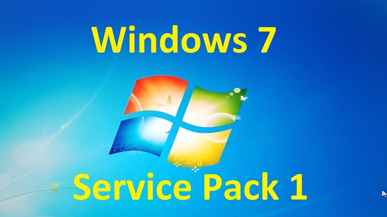 how to install windows 7 ultimate service pack 1