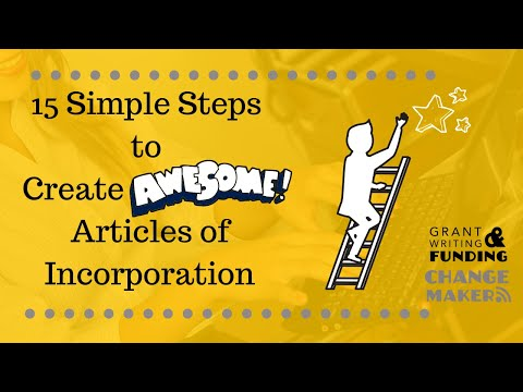 15 Simple Steps To Create Awesome Articles Of Incorporation