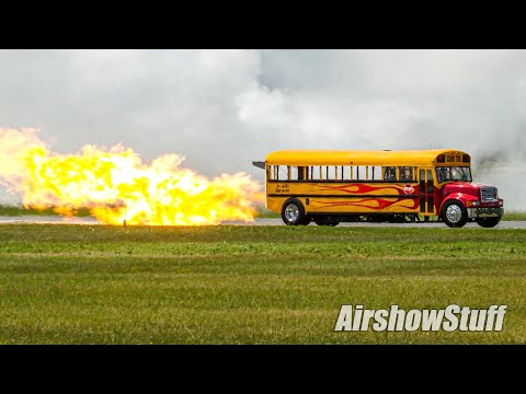 Jet Powered School Bus - 300+mph! - Waterloo Airshow 2014