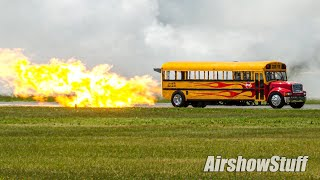 Download Video Jet Powered School Bus - 300+mph! - Waterloo Airshow 2014 MP3 3GP MP4