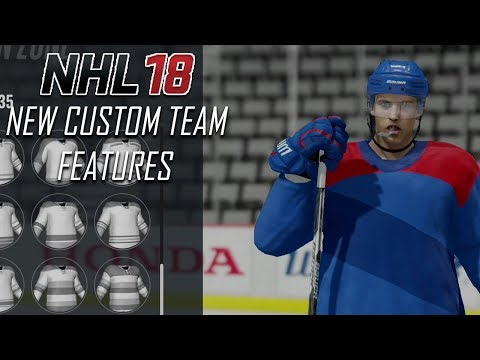 NHL 18 - New Custom Team Features