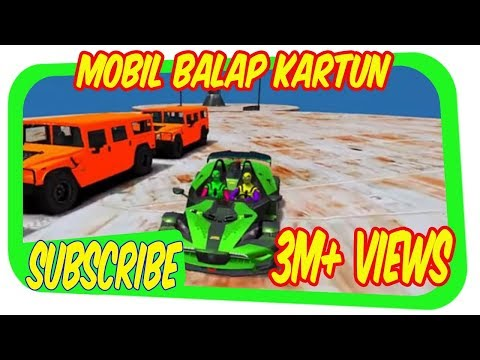 BALAP MOBIL KARTUN Mcqueen Transportasi dan Spiderman Mobil Balap Kartun CAR GAMES FOR CHILDREN