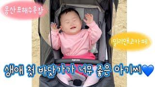 [vlog] 10개월 아기 첫 바다| 몽산포해수욕장 |…