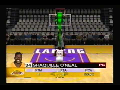 Shaquille O'Neal - NBA 2K3 Free Throws - YouTube