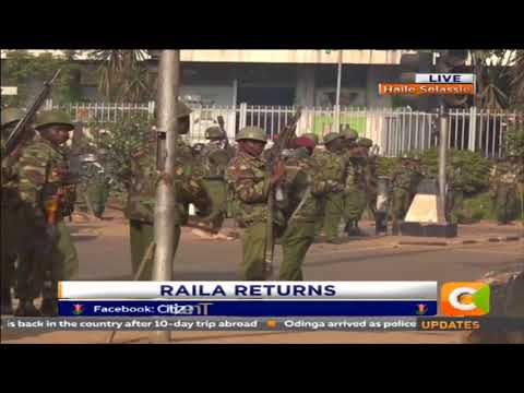Running battles between  NASA supporters and the police as teargas fill the air in town