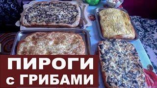 Пироги с грибами по-вологодски.
