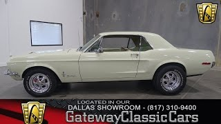 1968 Ford Mustang Stock #229 Gateway Classic Cars of Dallas