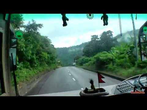 Nepal,Kathmandu to Pokhara by bus-Ttrip to Nepal,Tibet,India part 17-Travel video HD