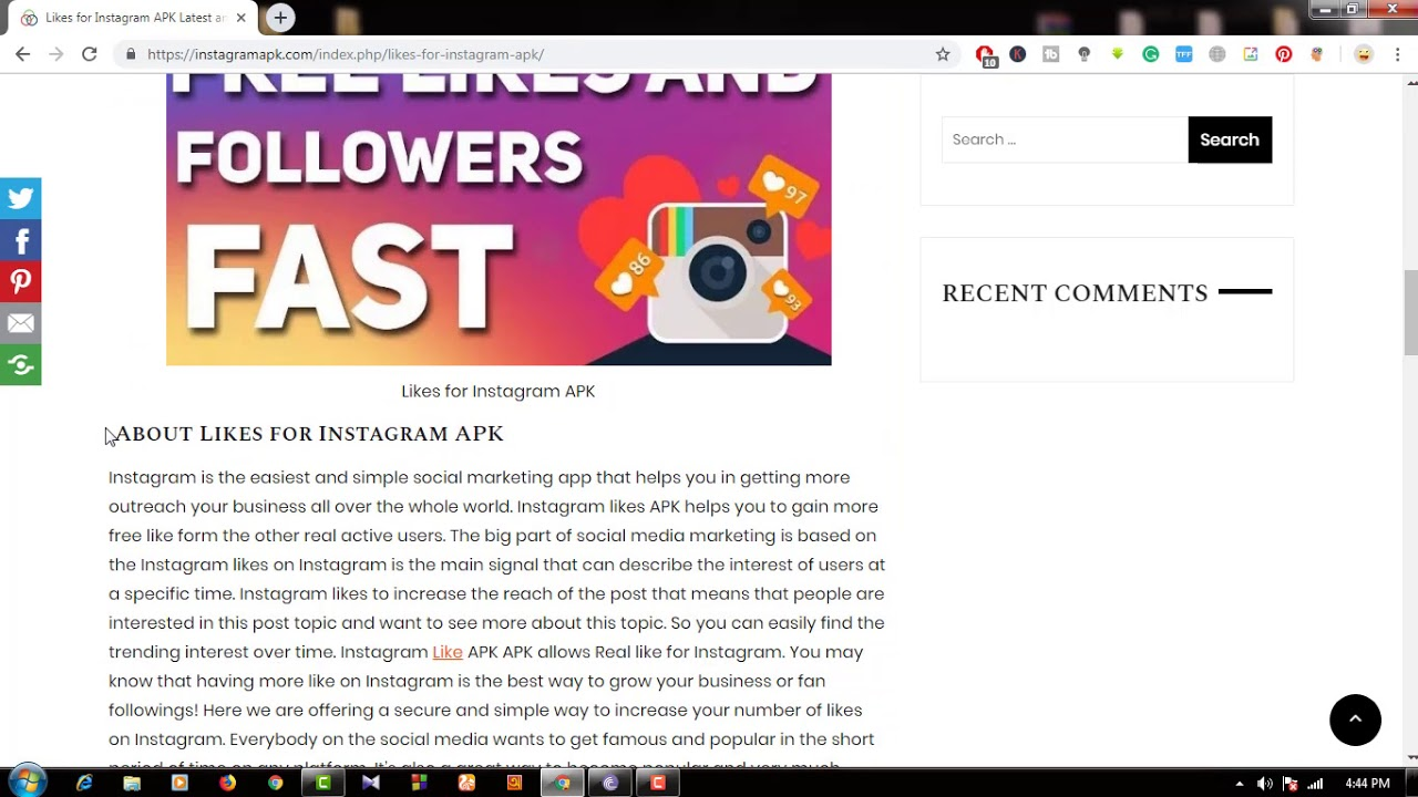 how to download likes for instagram apk free & full version